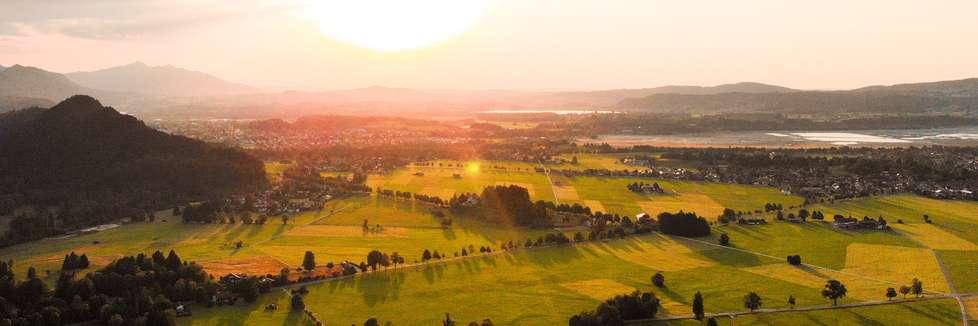 Deutschland Landschaft Sonnenuntergang
